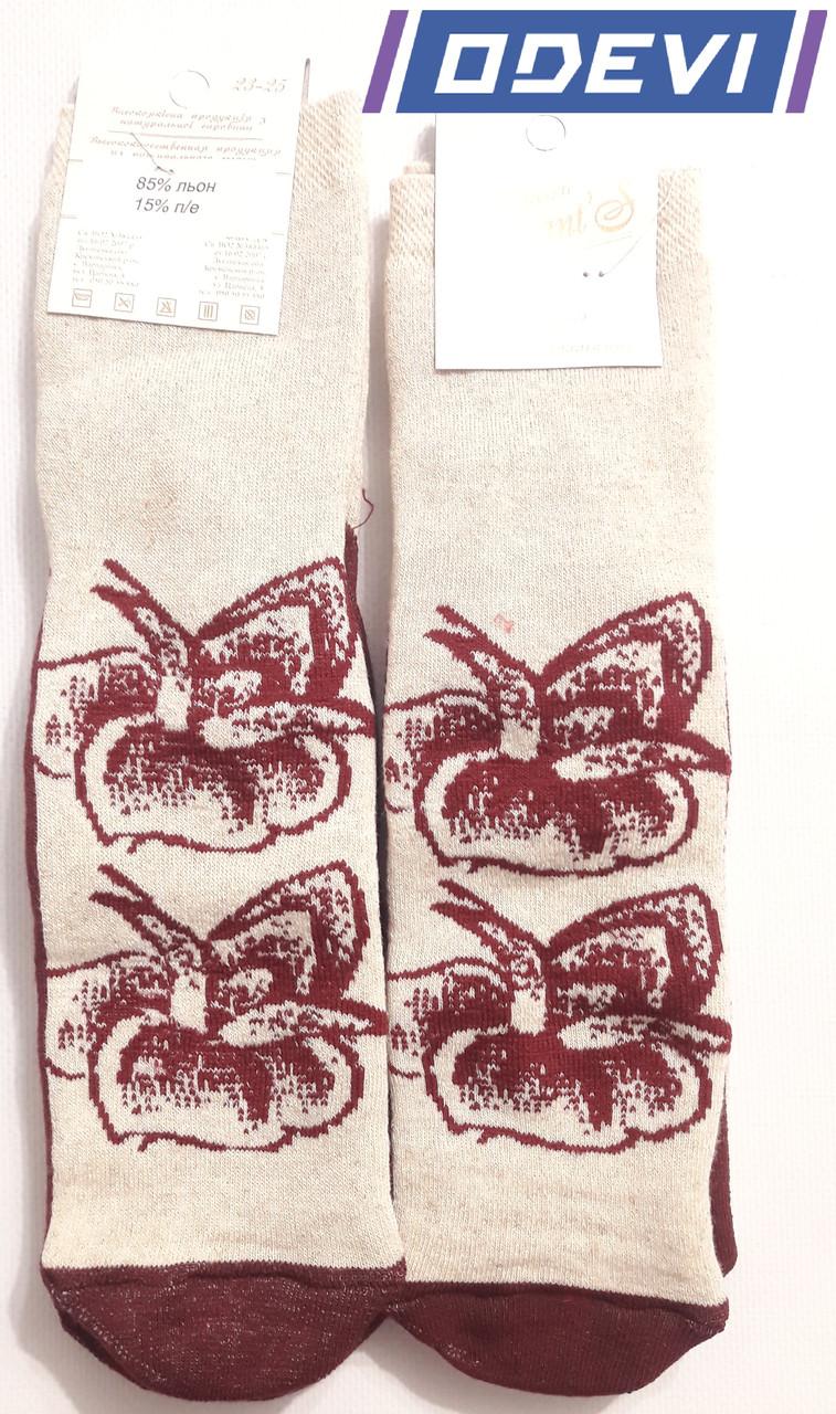 Льняные женские носки  фирмы Elegant 23-25 размер