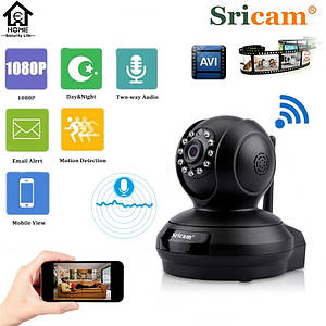 Рухома WIFI ip Full HD 2.0 MP камера нічного бачення Sricam SP019. Чорний колір