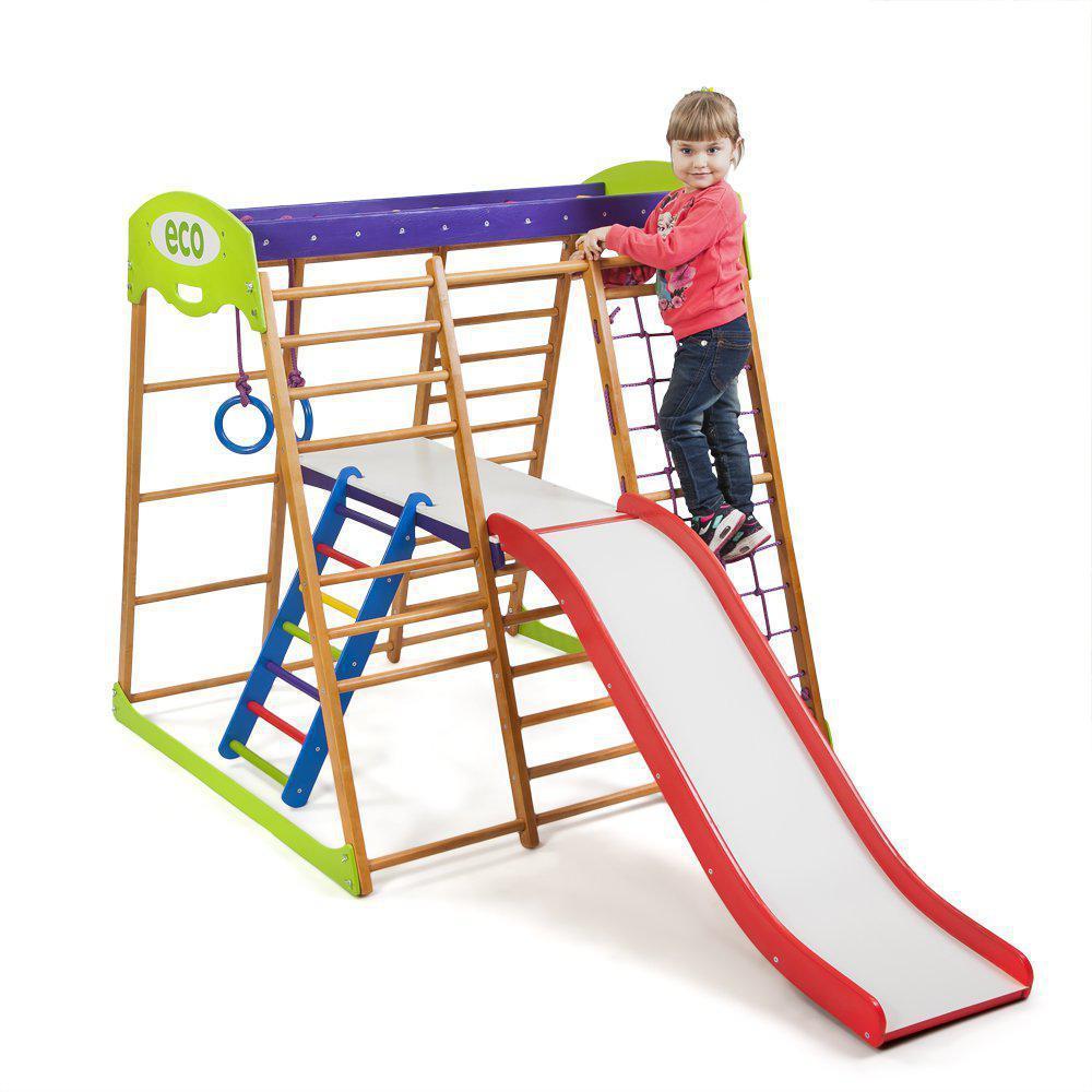 Детский спортивный комплекс для квартиры Карамелька Plus 2  SportBaby