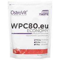 Протеин Ostrovit WPC80.eu Economy 700g (клубника-банан)