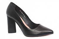 Туфли черные женские ТМ Лидер кожаные 3142.11 38