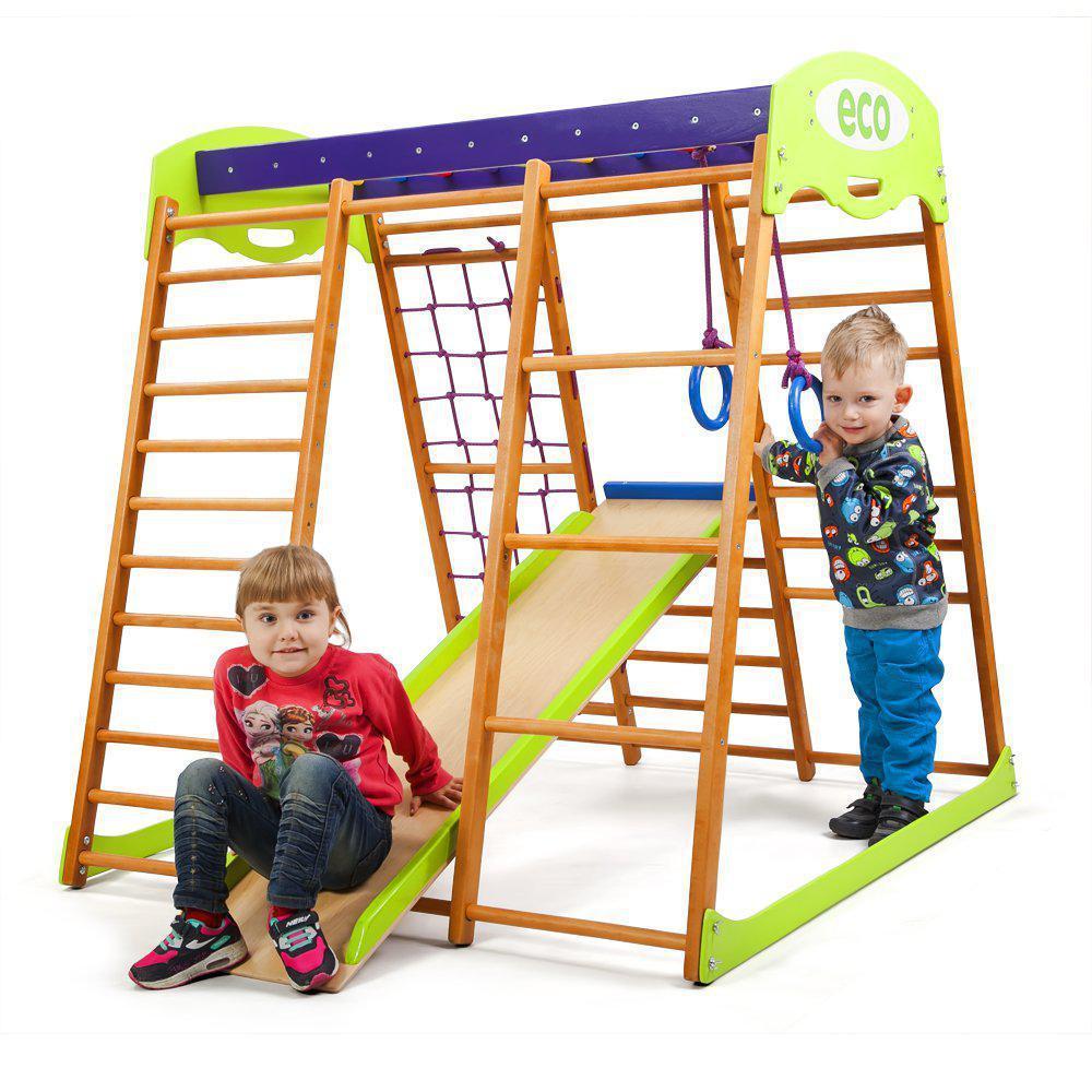 Детский спортивный комплекс для квартиры «Карамелька мини» SportBaby
