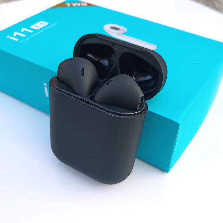 Сенсорные Беспроводные наушники HBQ I11 TWS Bluetooth высокого  Черного цвета