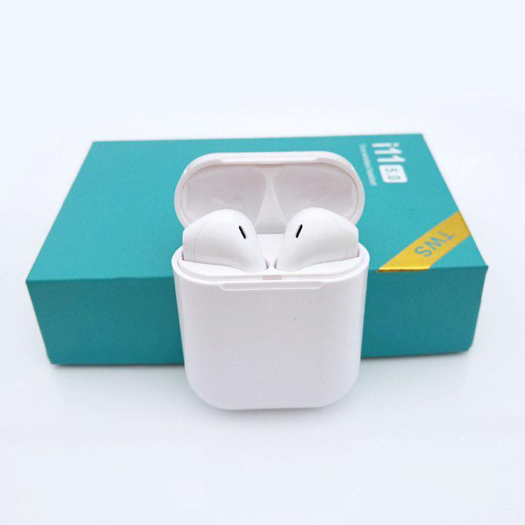 Сенсорные Беспроводные наушники HBQ I11 TWS Bluetooth высокого качества 1 в 1 с AirPod Apple Белого цвета