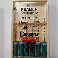 K-Reamers 21мм, уп.6шт, №035, Dentsply Maillefer