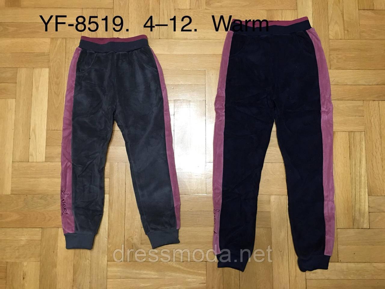 Велюровые спортивные брюки с начесом для девочек F&D 4-12 лет