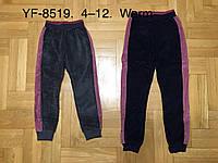 Велюровые спортивные брюки с начесом для девочек F&D 4-12 лет, фото 1