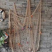 Сетка в морском стиле, из толстых канатов, рыболовный сетевой декор, украшение для стен кафе, бара, ресторана.