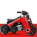 Детский электромобиль Мотоцикл M 4113 EL-3, EVA колеса, Кожаное сиденье, красный, фото 3