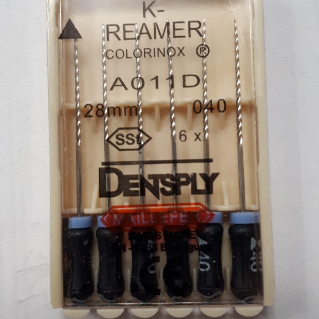 K-Reamers 28мм, уп.6шт, №040, Dentsply Maillefer