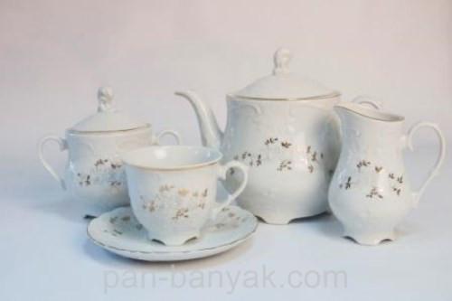 Чайный сервиз Cmielow Rococo 9705 на 12 персон 27 предметов фарфор (9705)