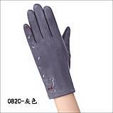Замш с сенсором качество женские перчатки для работы на телефоне плоншете стильные только оптом, фото 2