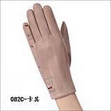 Замш с сенсором качество женские перчатки для работы на телефоне плоншете стильные только оптом, фото 3