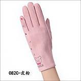 Замш с сенсором качество женские перчатки для работы на телефоне плоншете стильные только оптом, фото 4