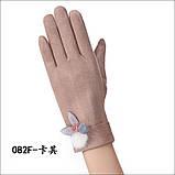 Замш с сенсором качество женские перчатки для работы на телефоне плоншете стильные только оптом, фото 6