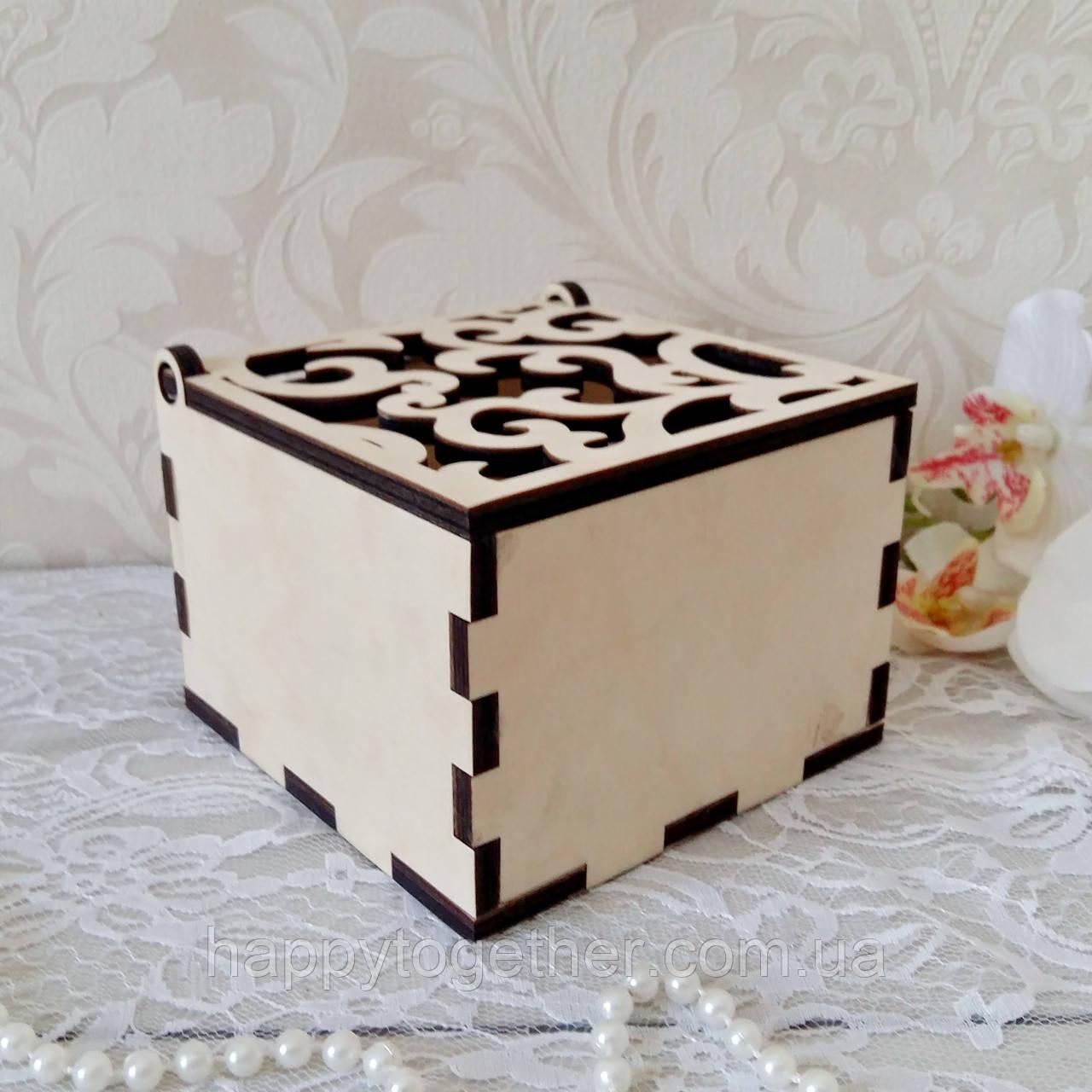 Деревянная шкатулка,  коробочка для колец