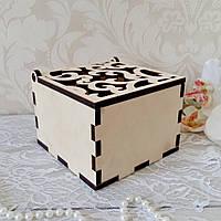 Деревянная шкатулка,  коробочка для колец, фото 1