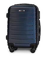 Мини чемодан 49х33х20 Ручная кладь на 4 колесах Fly 1107 Темно-синий