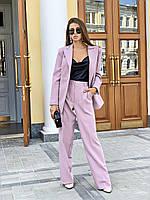 Женский брючный костюм с брюками клеш и пиджаком 3410223, фото 1