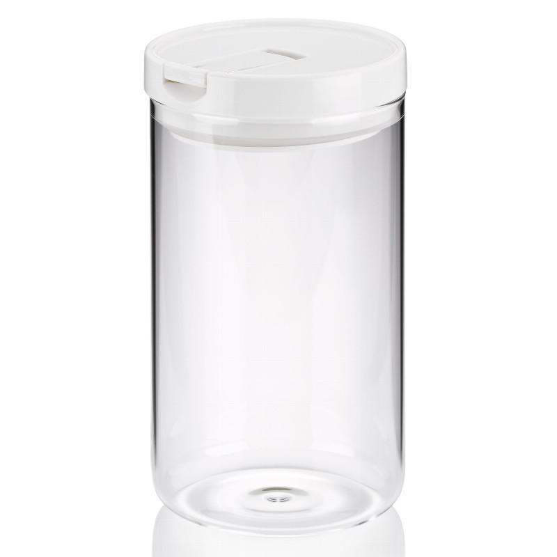 Ємність для зберігання сипучих KELA Arik біла, 1,2 л, 10,5х19 см (12106)