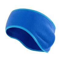Теплая спортивная повязка на голову Vegard из флиса синяя