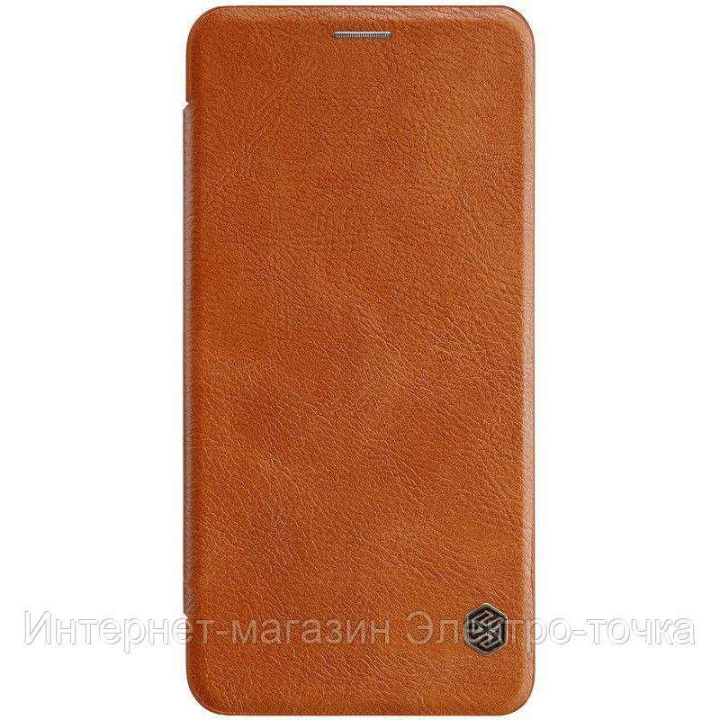 Кожаный чехол (книжка) Nillkin Qin Series для Samsung A750 Galaxy A7 (2018)