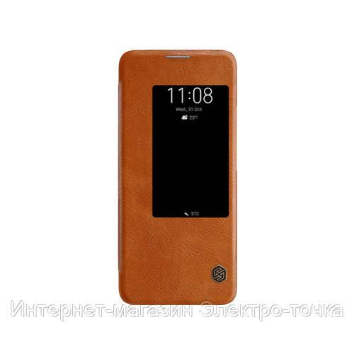 Кожаный чехол (книжка) Nillkin Qin Series для Huawei Mate 20 Pro
