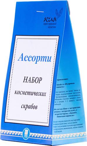 Набор косметических скрабов Ассорти Арго 7 шт (скрабы Кия, Нежный для ухода за кожей лица, тела, пилинг)