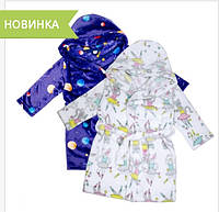 Халат детский флисовый ТМ ''Ярослав'' м.Д-003 Кошечки размер 92-98