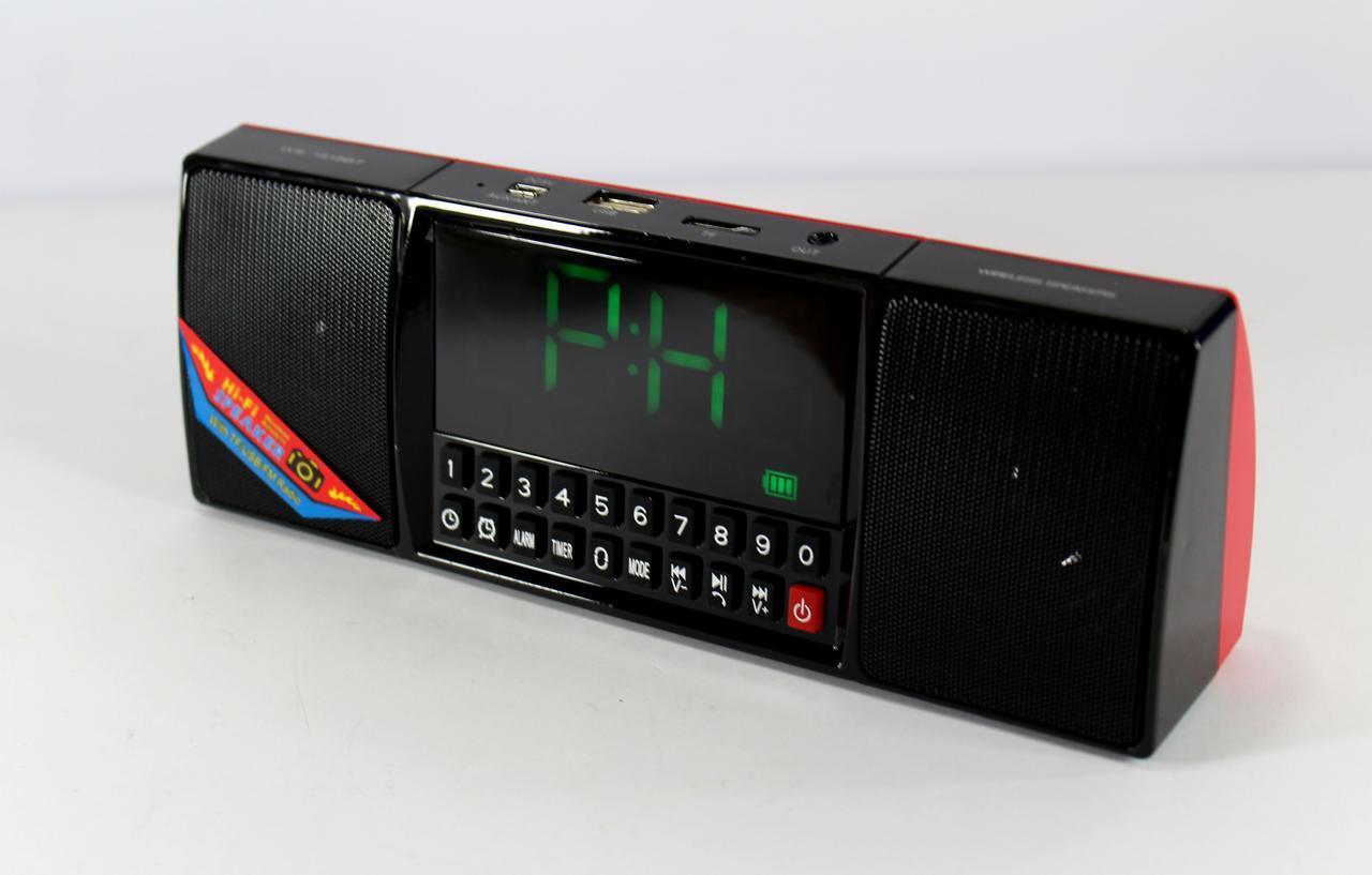 Портативна колонка з годинником WS 1515 BT