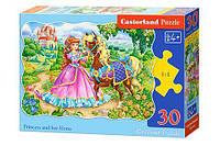 """Пазлы """"Принцесса и её лошадка"""", 30 элементов В-03617 sco"""