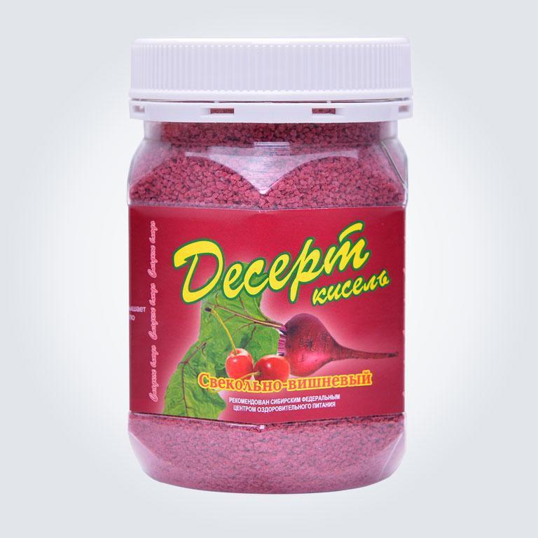 Десерт кисель свекольно вишневый Арго витамины, минералы, улучшение пищеварения, цеолит, (витамины С, Е)