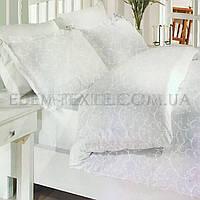 Постельное белье семейное сатин Турция Elis Gri, Белый