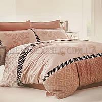 Семейный комплект постельного белья сатин Alona kahve, Коричневый