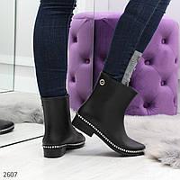 Черные силиконовые ботинки для непогоды