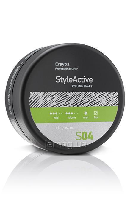 Erayba Professional STYLE ACTIVE S04 Clay Wax Воск с матовым эффектом, 90 мл