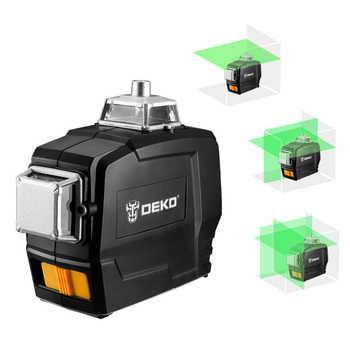 Лазерный уровень Deko LL12 3D 12 линий + зеленый луч НОВИНКА 2020