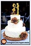 Топпер Парень дарит цветок, напыление блестками разных цветов ОПТ/Розница, фото 2