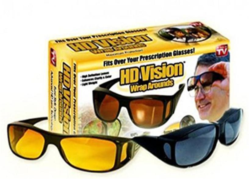 Антибликовые очки ночного видения HD vision Glasses 2 в1