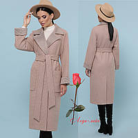 Женское демисезонное шерстяное пальто классического кроя   CL-П-347-110, фото 1