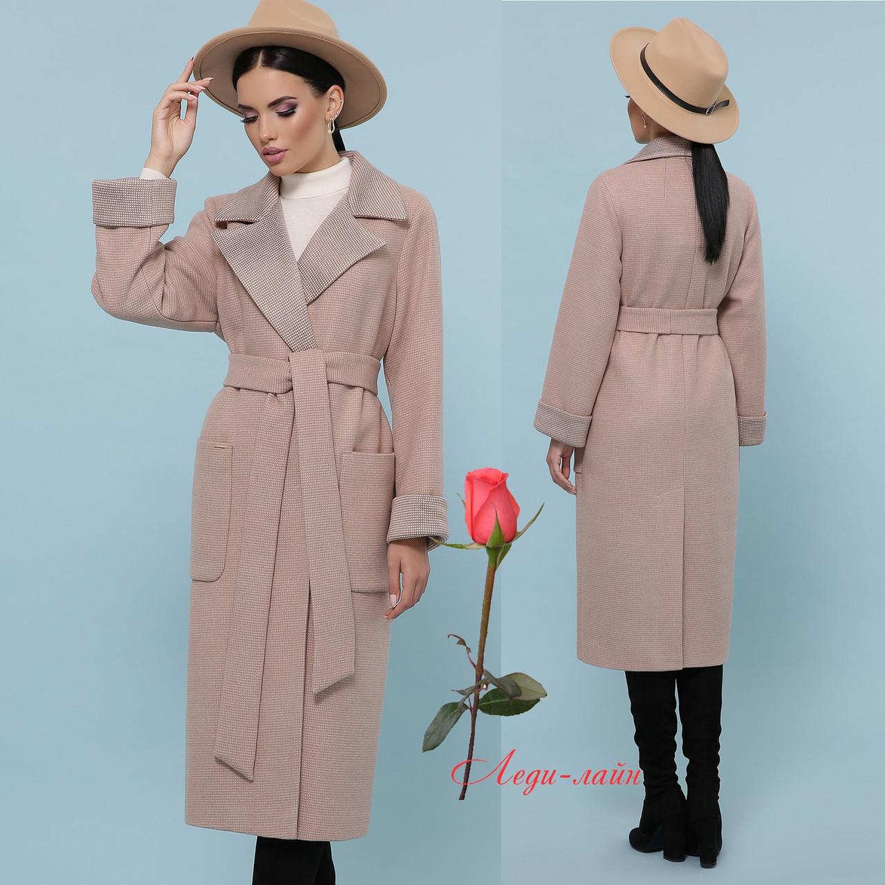 Женское демисезонное шерстяное пальто классического кроя   CL-П-347-110