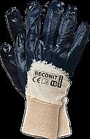 Перчатки рабочие Reis на трикотажной основе с нитриловым покрытием, размер 10  Польские, RECONIT