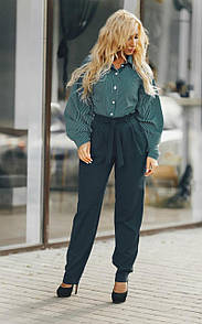 Актуальные широкие женские брюки