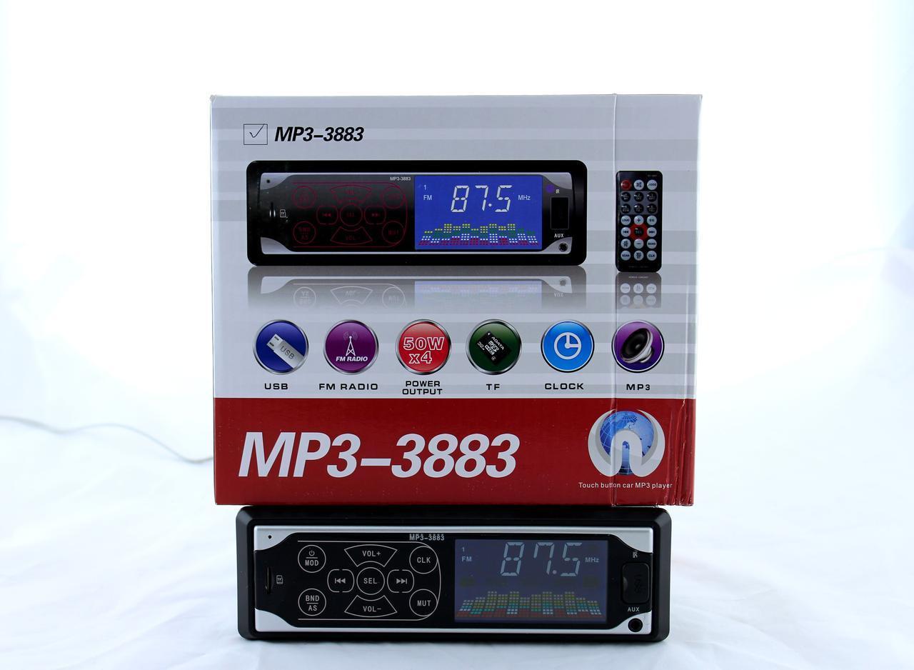 Автомагнітола MP3 3883 ISO, 1DIN сенсорний дисплей