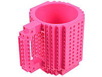 Чашка для ребенка Build On для игры с Lego  Малиновый