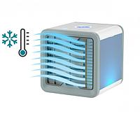 Мобильный мини кондиционер Moltis Arctic Air USB переносной компактный портативный охладитель очиститель увлажнитель фильтратор воздуха 4 в 1 LED