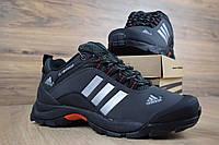 Мужские зимние кроссовки в стиле Adidas Climaproof низкие серые, фото 1