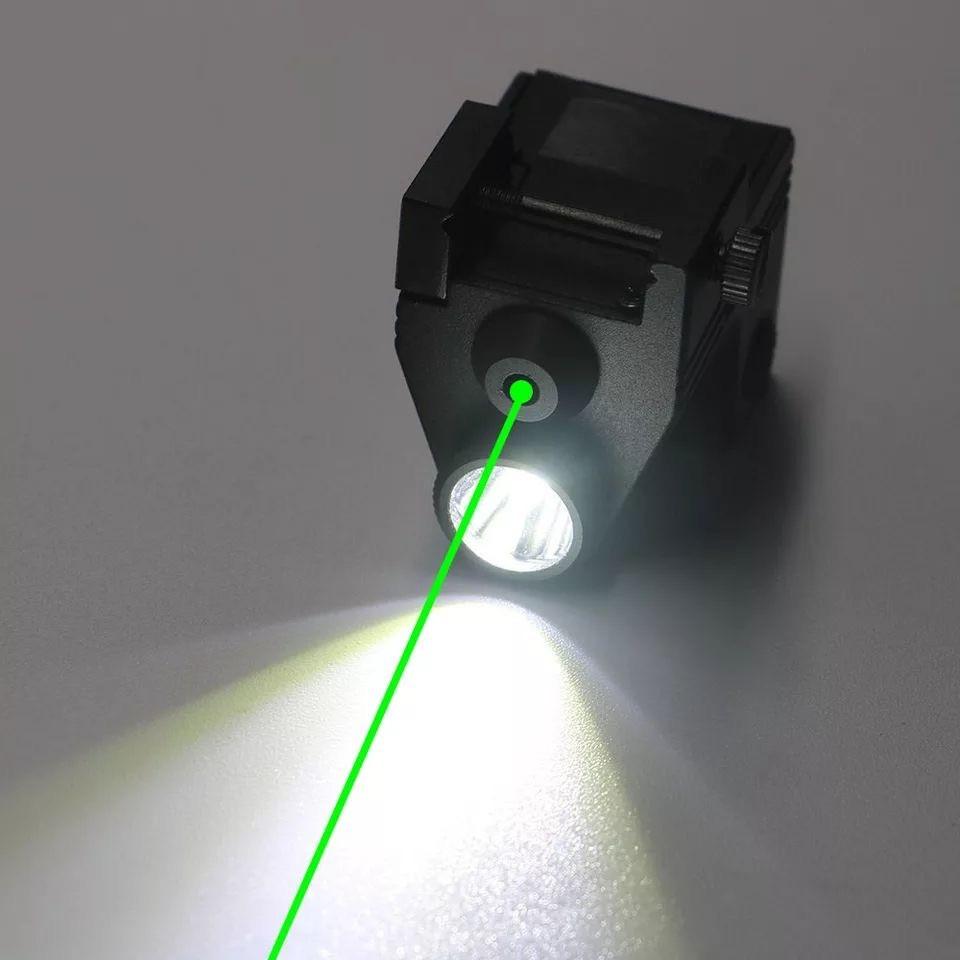 Зелёный лазерный прицел + led фонарь (Качество)