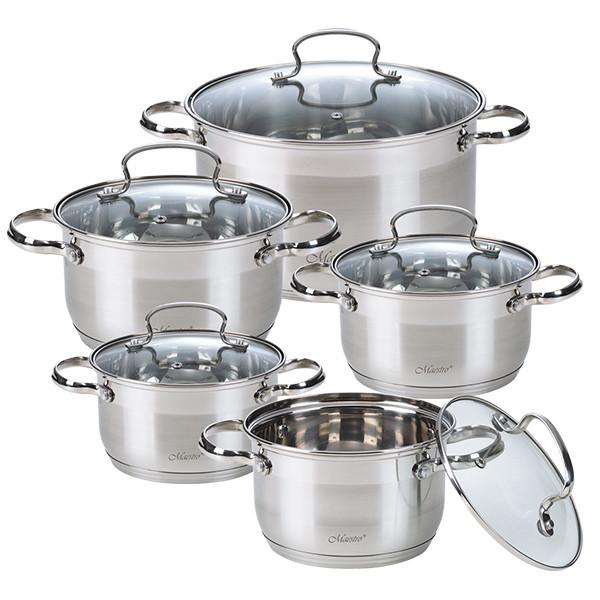 Набір посуду Maestro 10 предметів нержавійка (3520-10 MR)