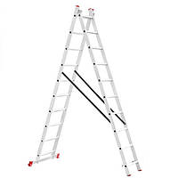 Лестница 2-х раскладная Intertool 481 см х 2 x10 ступеней (LT-0210)